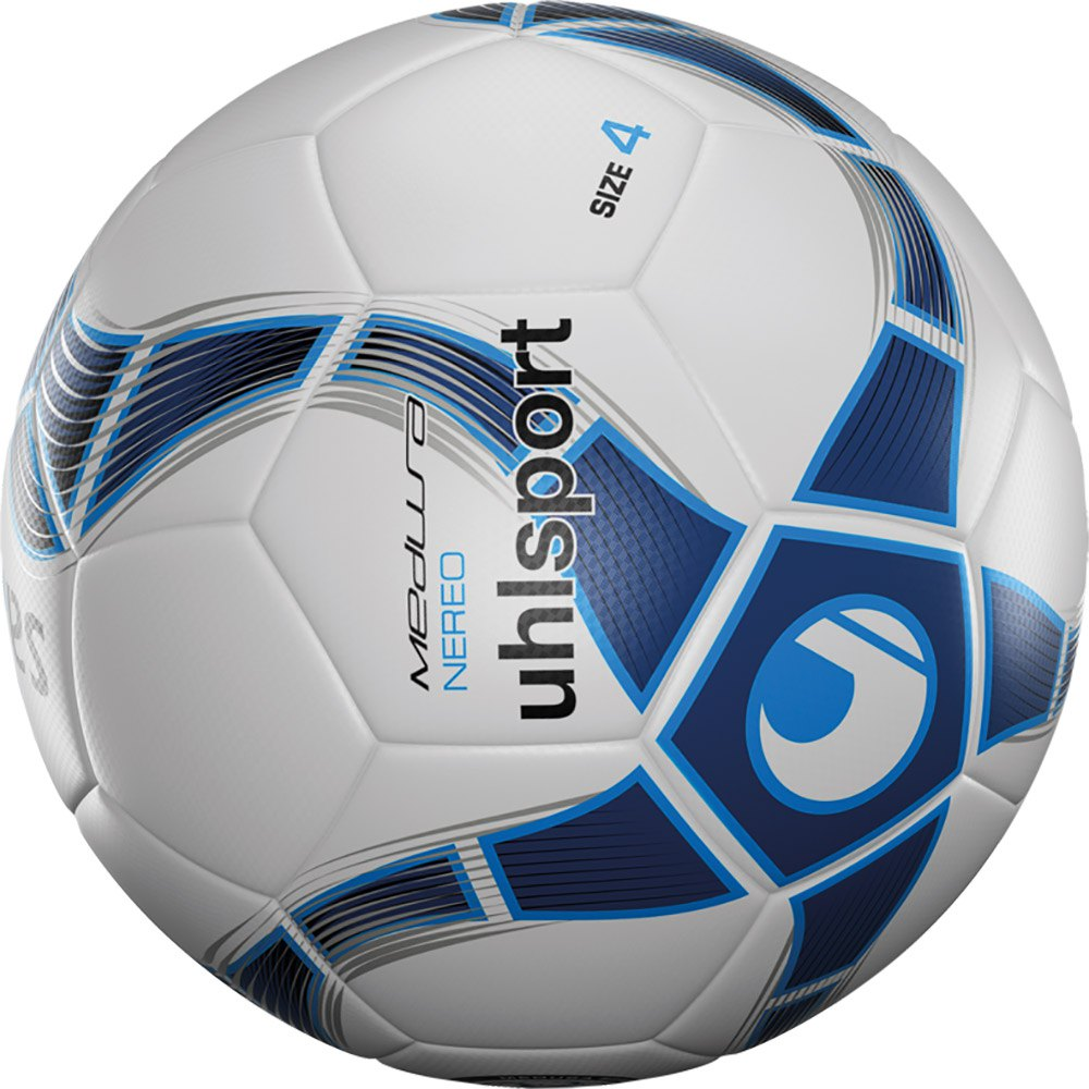 Uhlsport Medusa Nereo Football Ball 4 White / Navy / Ice Blue