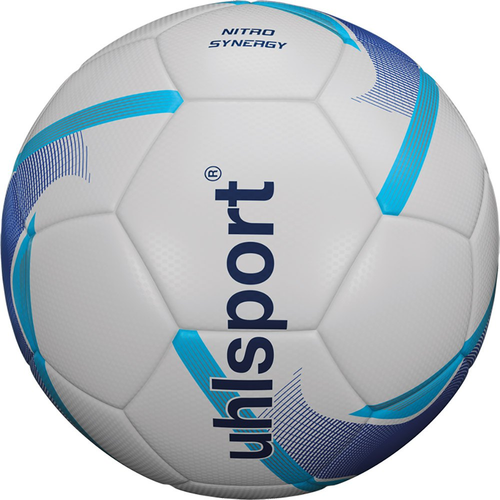 Uhlsport Nitro Synergy Football Ball 4 White / Blue / Cyan