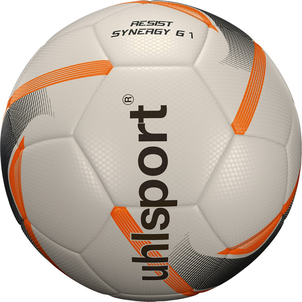 Uhlsport Resist Synergy Football Ball 5 White / Black / Fluo Orange
