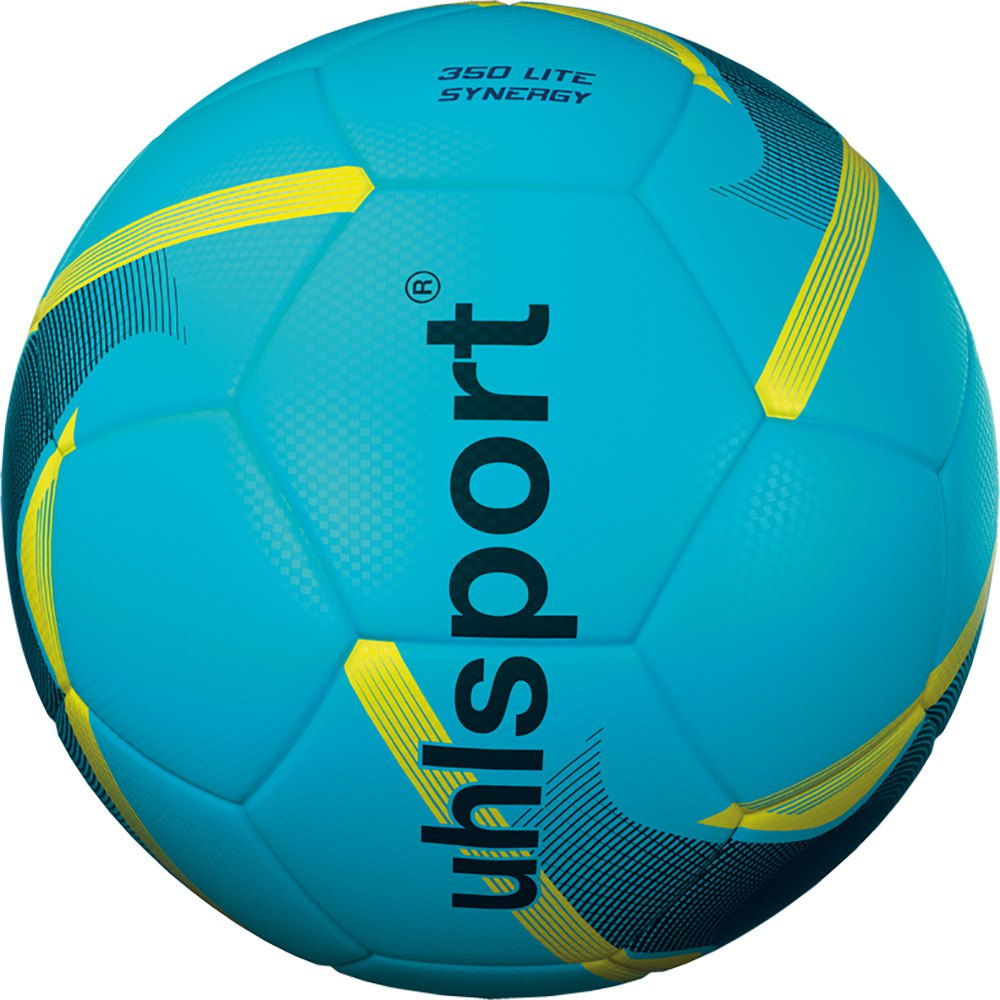 Uhlsport 350 Lite Synergy Football Ball 4 Ice Blue / Black / Fluo Yellow