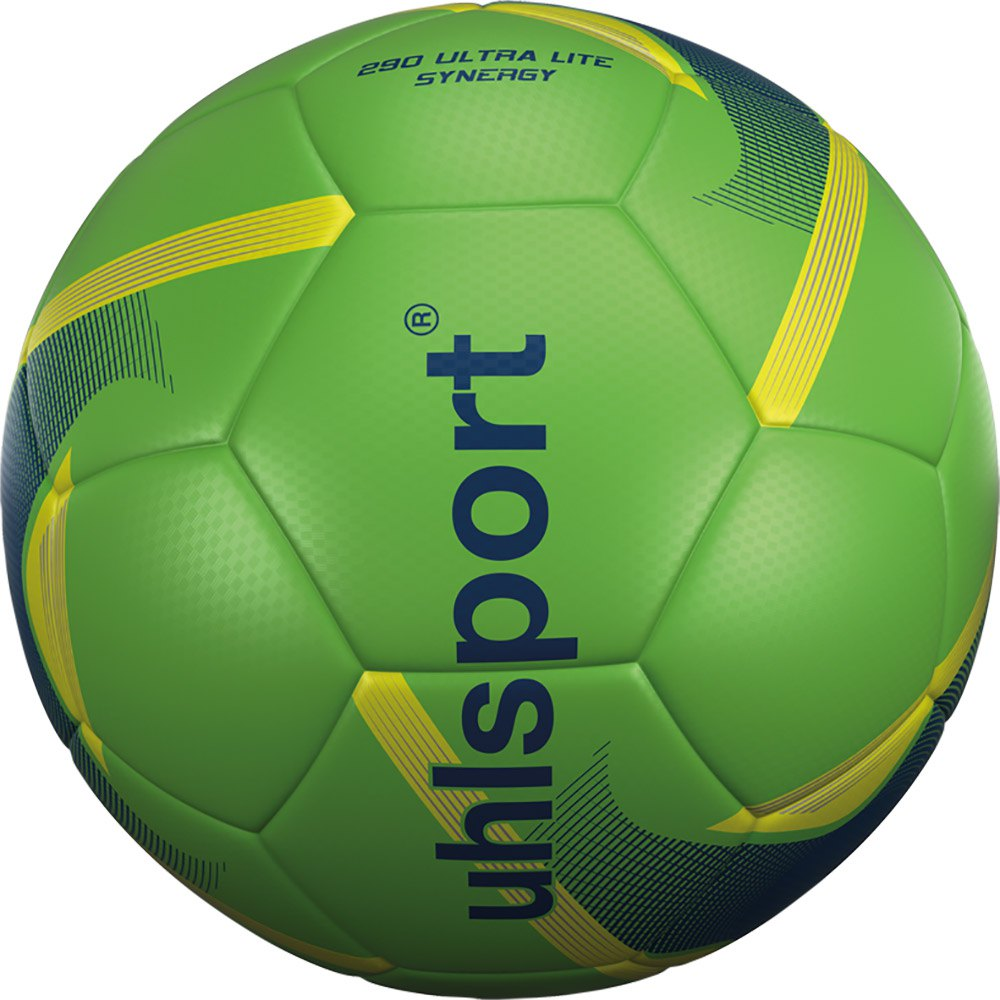 Uhlsport 290 Ultra Lite Synergy Football Ball 4 Fluo Green / Navy / Fluo Yellow