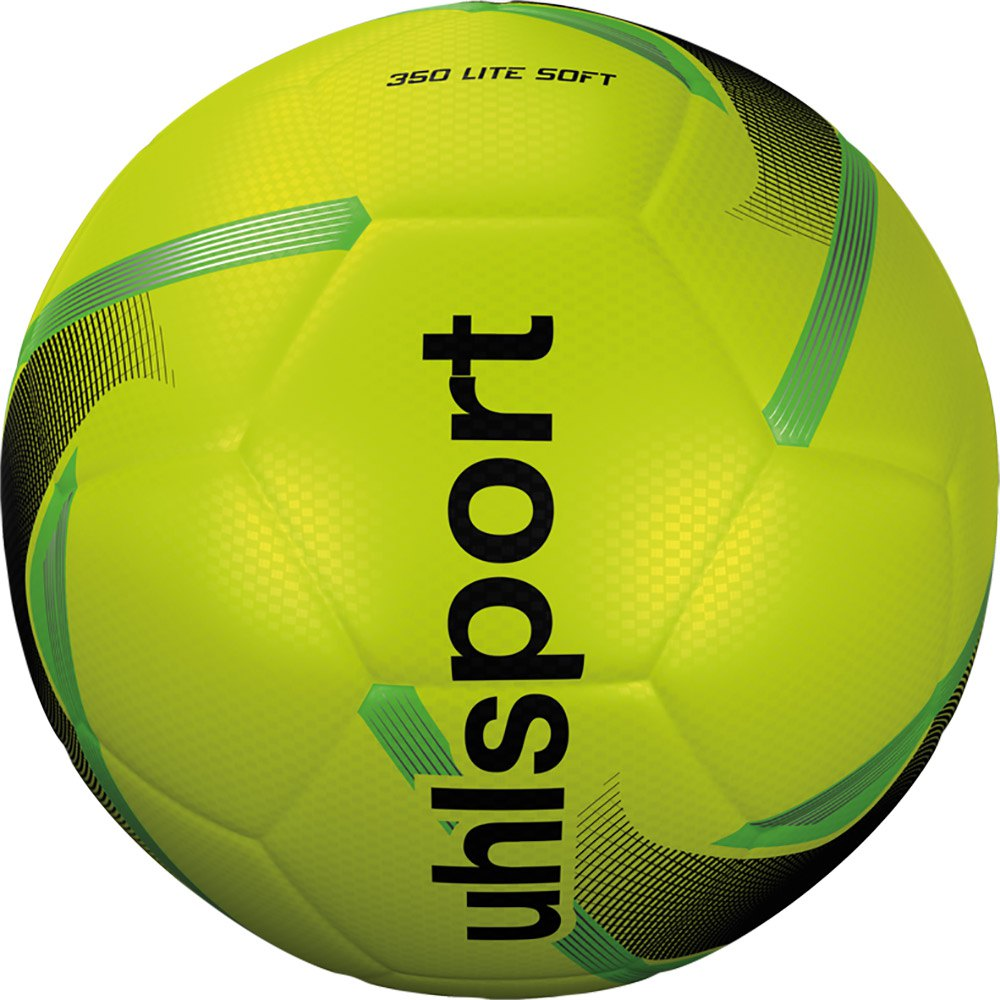 Uhlsport 350 Lite Soft Football Ball 5 Fluo Yellow / Black / Fluo Green