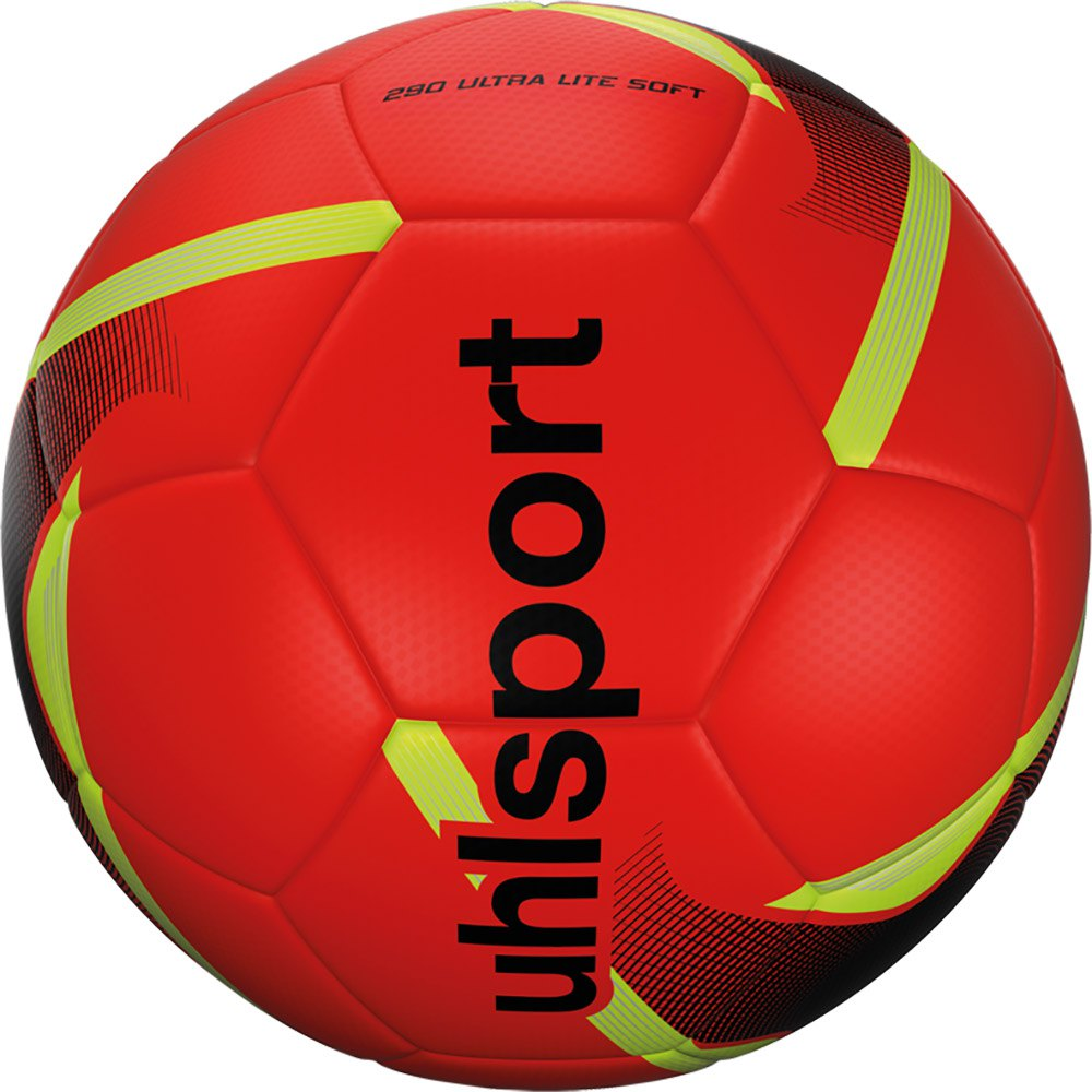 Uhlsport 290 Ultra Lite Soft Football Ball 5 Fluo Red / Black / Fluo Yellow
