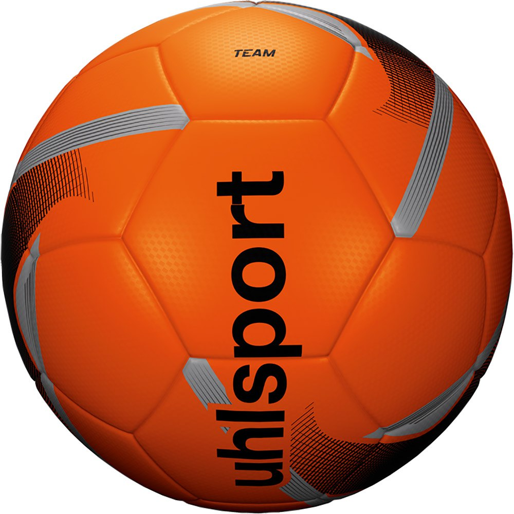 Uhlsport Team Football Ball 5 Fluo Orange / Black / Silver