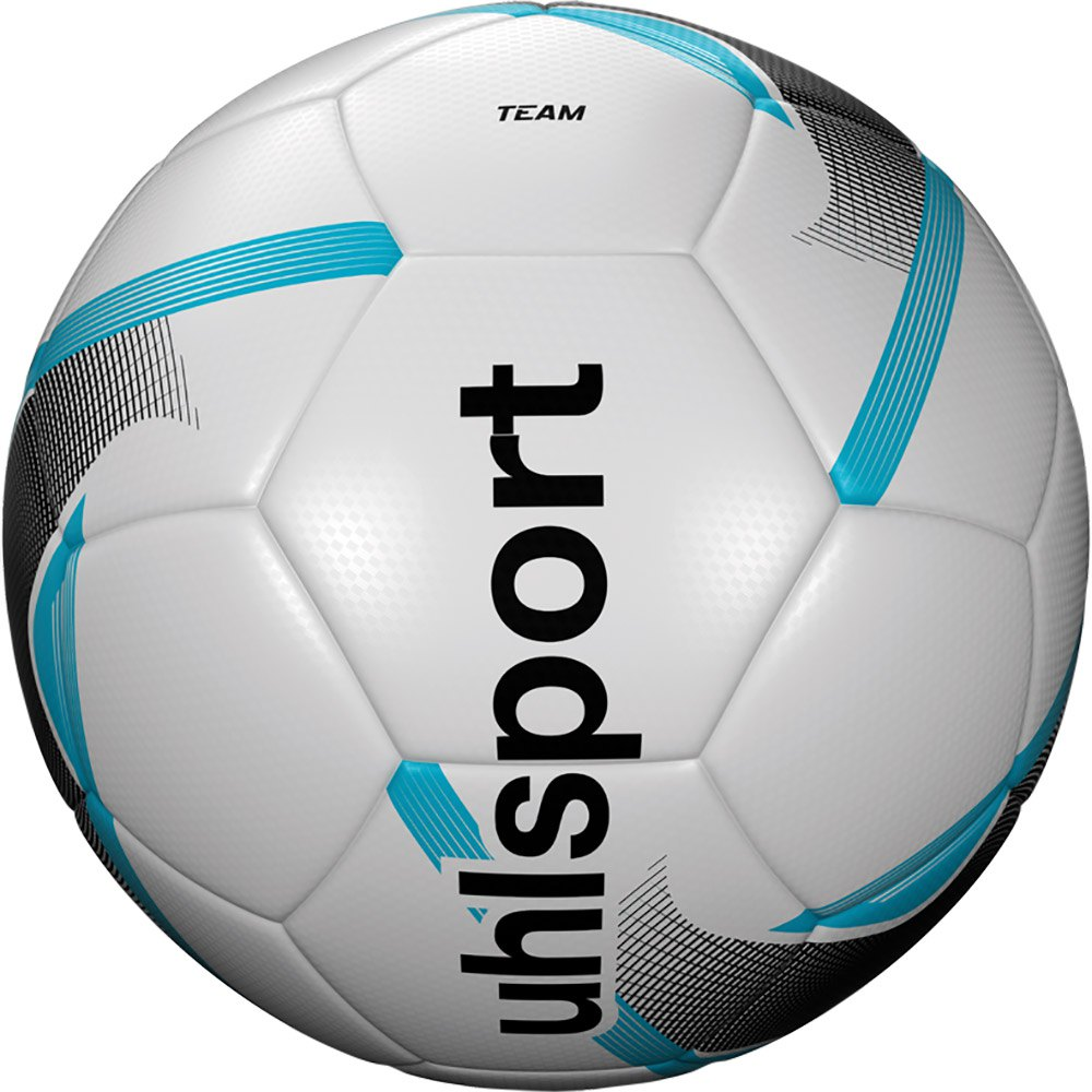 Uhlsport Team Football Ball 3 White / Black / Ice Blue