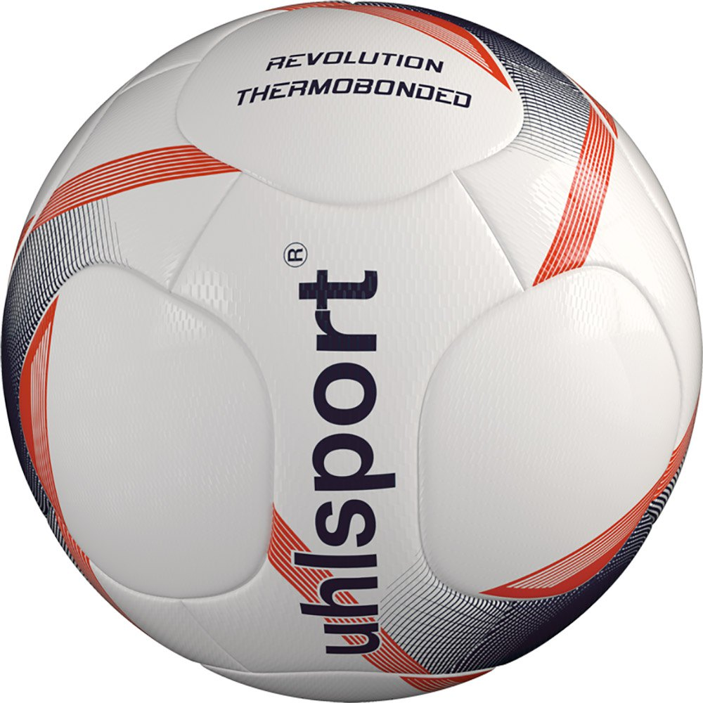 Uhlsport Revolution Thermobonded Football Ball 5 White / Navy / Fluo Red
