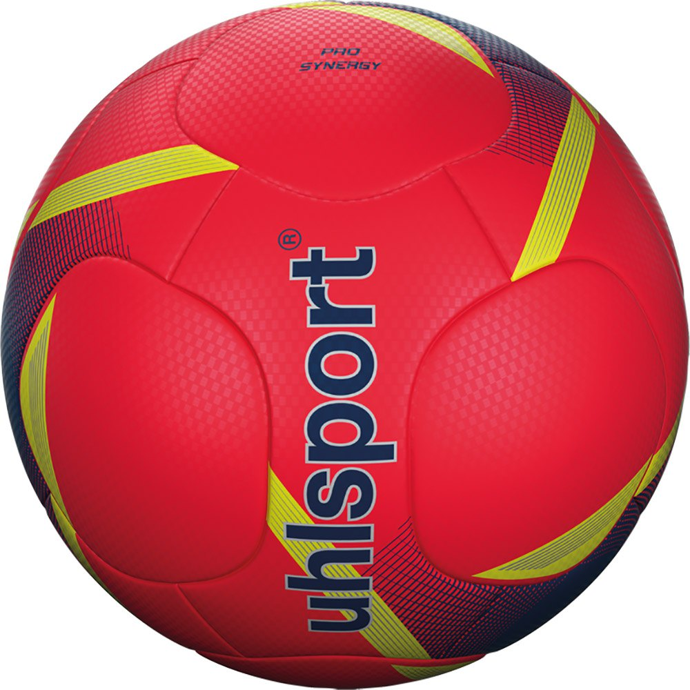Uhlsport Pro Synergy Football Ball 5 Fluo Red / Navy / Fluo Yellow