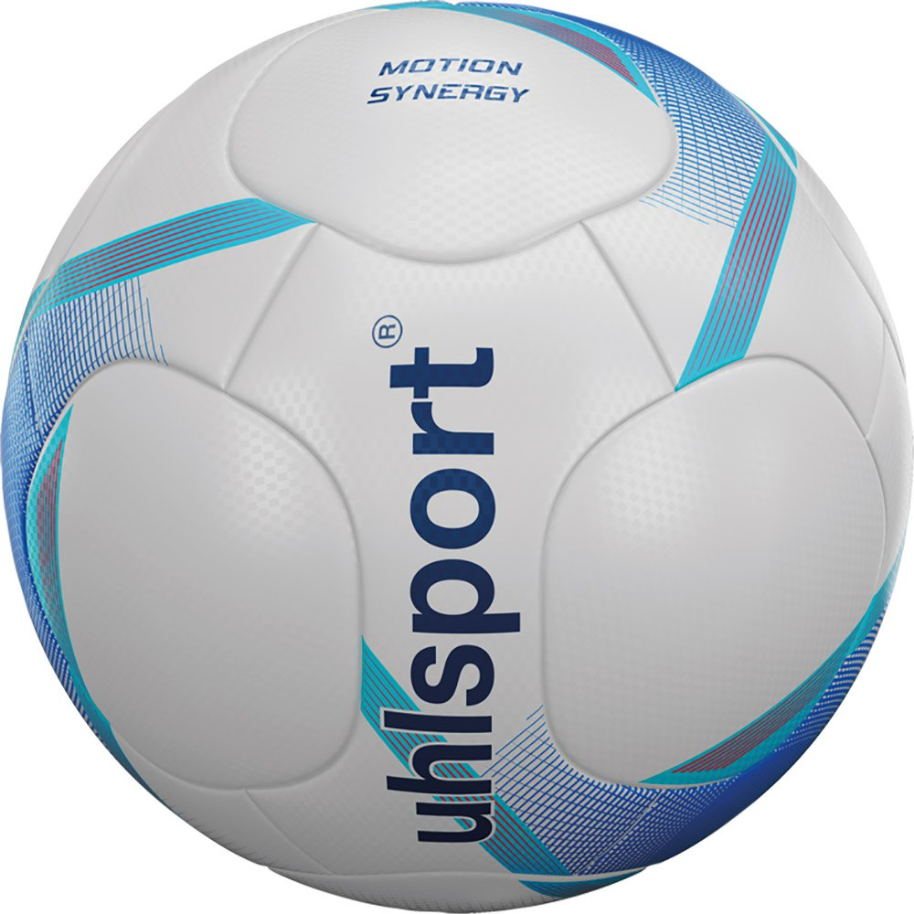 Uhlsport Motion Synergy Football Ball 4 White / Deep Blue / Cyan
