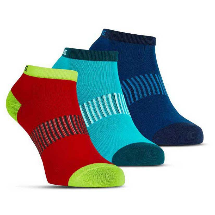 Salming Performance Ankle 3 Pair EU 39-42 Blue / Red / Lapis