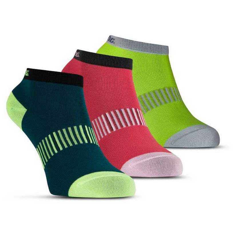Salming Performance Ankle 3 Pair EU 39-42 Teal / Yellow / Red