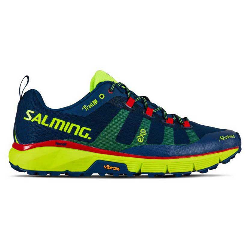 Salming Trail 5 EU 41 1/3 Poseidon Blue / Safety Yellow