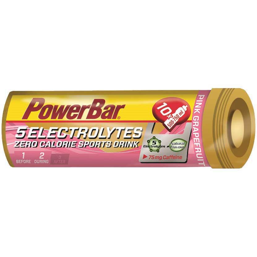 Powerbar 5 Electrolytes Comprimidos Toronja Rosa Cafeína One Size