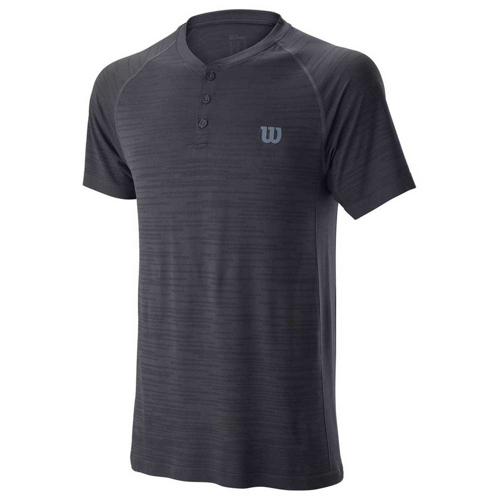 Wilson Competition Seamless Henley S Ebony