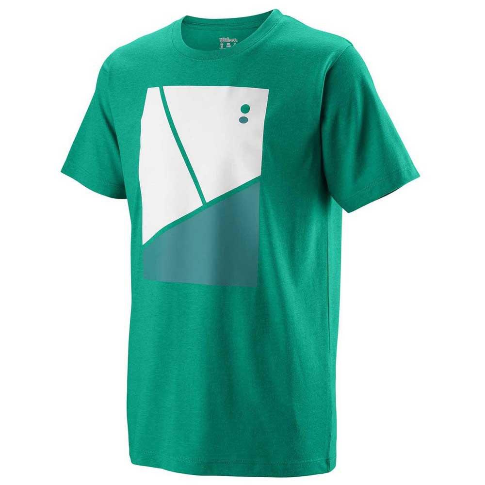 Wilson T-shirt Manche Courte Tramline Tech XS Deep Green