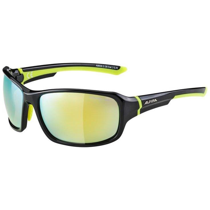 Alpina Lyron Yellow Mirror/CAT 3 Black / Neon Yellow