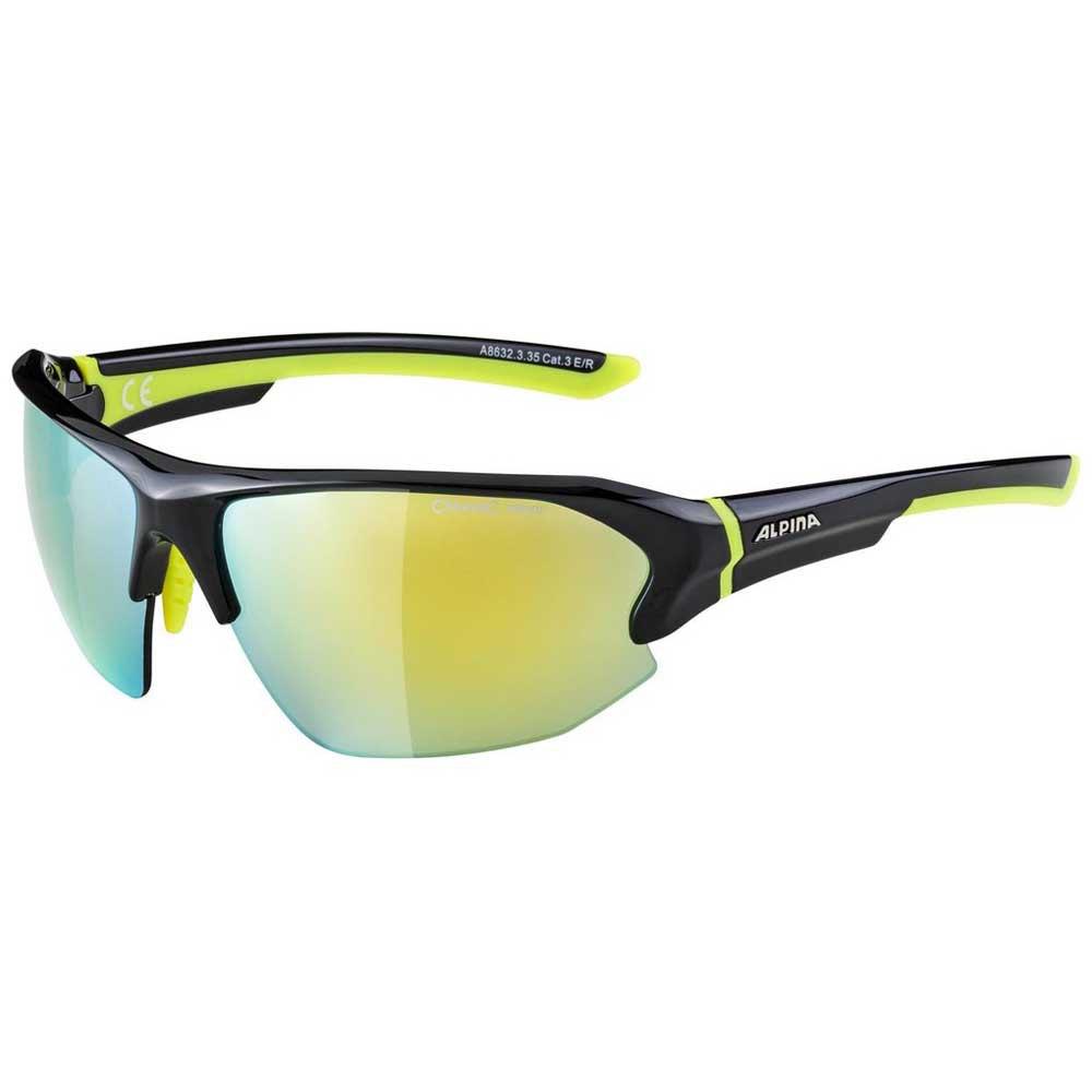 Alpina Lyron Hr Yellow Mirror/CAT 3 Black / Neon Yellow