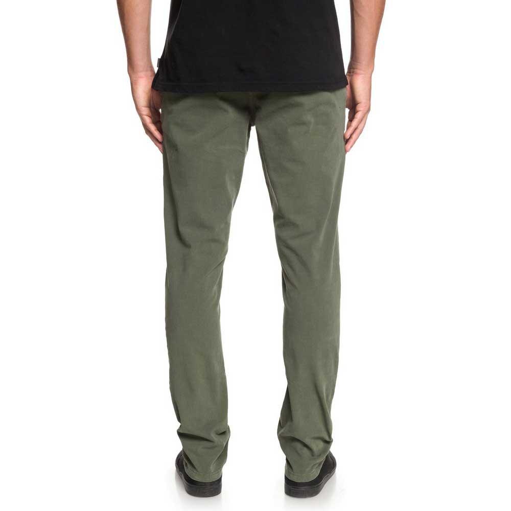Quiksilver-Krandy-Slim-Vert-T54355-Pantalons-Homme-Vert-Pantalons-Quiksilver miniature 8