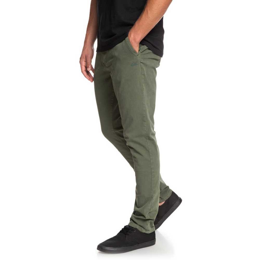 Quiksilver-Krandy-Slim-Vert-T54355-Pantalons-Homme-Vert-Pantalons-Quiksilver miniature 9