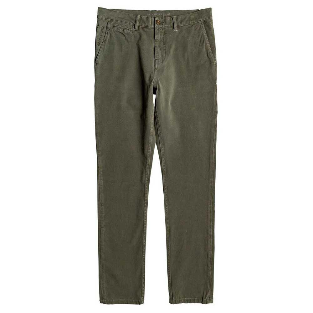 Quiksilver-Krandy-Slim-Vert-T54355-Pantalons-Homme-Vert-Pantalons-Quiksilver miniature 10