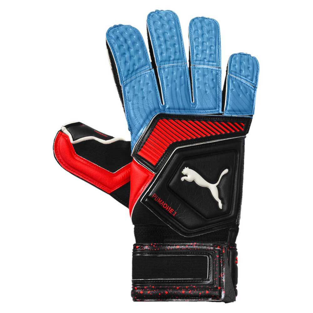 Puma Gants Gardien One Grip 1 Rc 11 Puma Black / Blue Azure / Red Blast