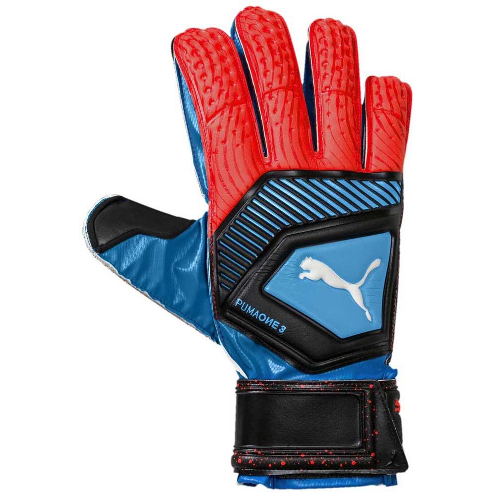 Puma Gants Gardien One Protect 3 10 Blue Azure / Red Blast