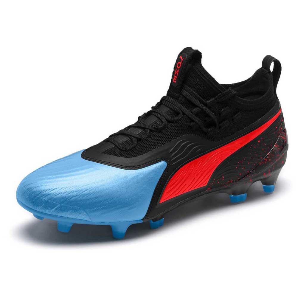 Puma One 19.1 Fg/ag Football Boots EU 40 1/2 Blue Azure / Red Blast