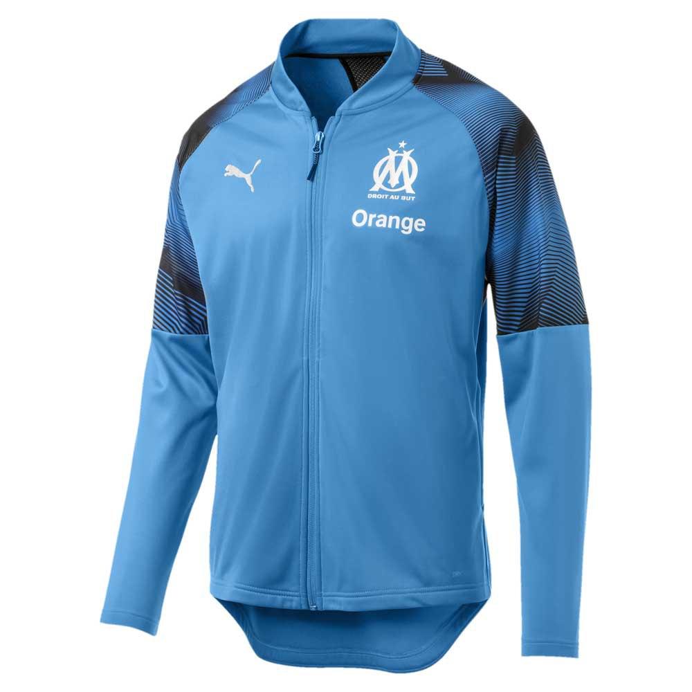 Puma Blouson Olympique Marseille Sponsor Logo 18/19 XL Bleu Azur / Puma Black