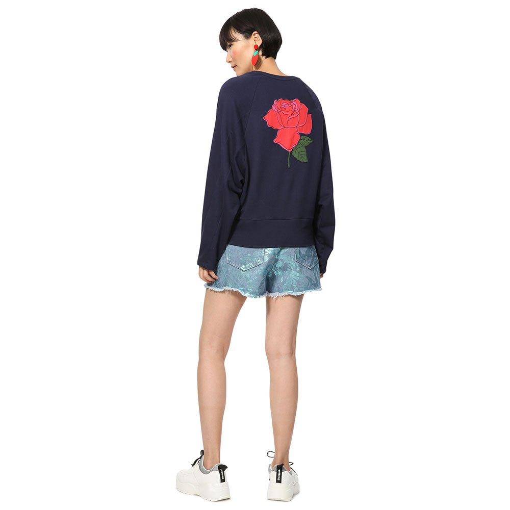 Sweatshirts Mode Serene V Desigual Bleu axPRUxEqw