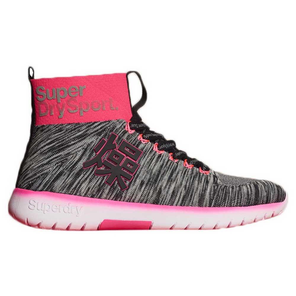 Superdry Super Knit Knit Knit Runner Hi Mehrfarben , Sneakers Superdry , mode 2d16ed