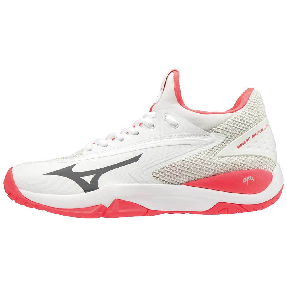 Mizuno Wave Impulse All Court EU 40 White / Dark Shadow / Fiery Coral