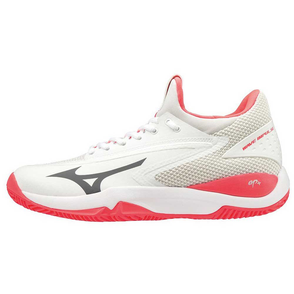 Mizuno Wave Impulse Clay EU 39 White / Dark Shadow / Fiery Coral