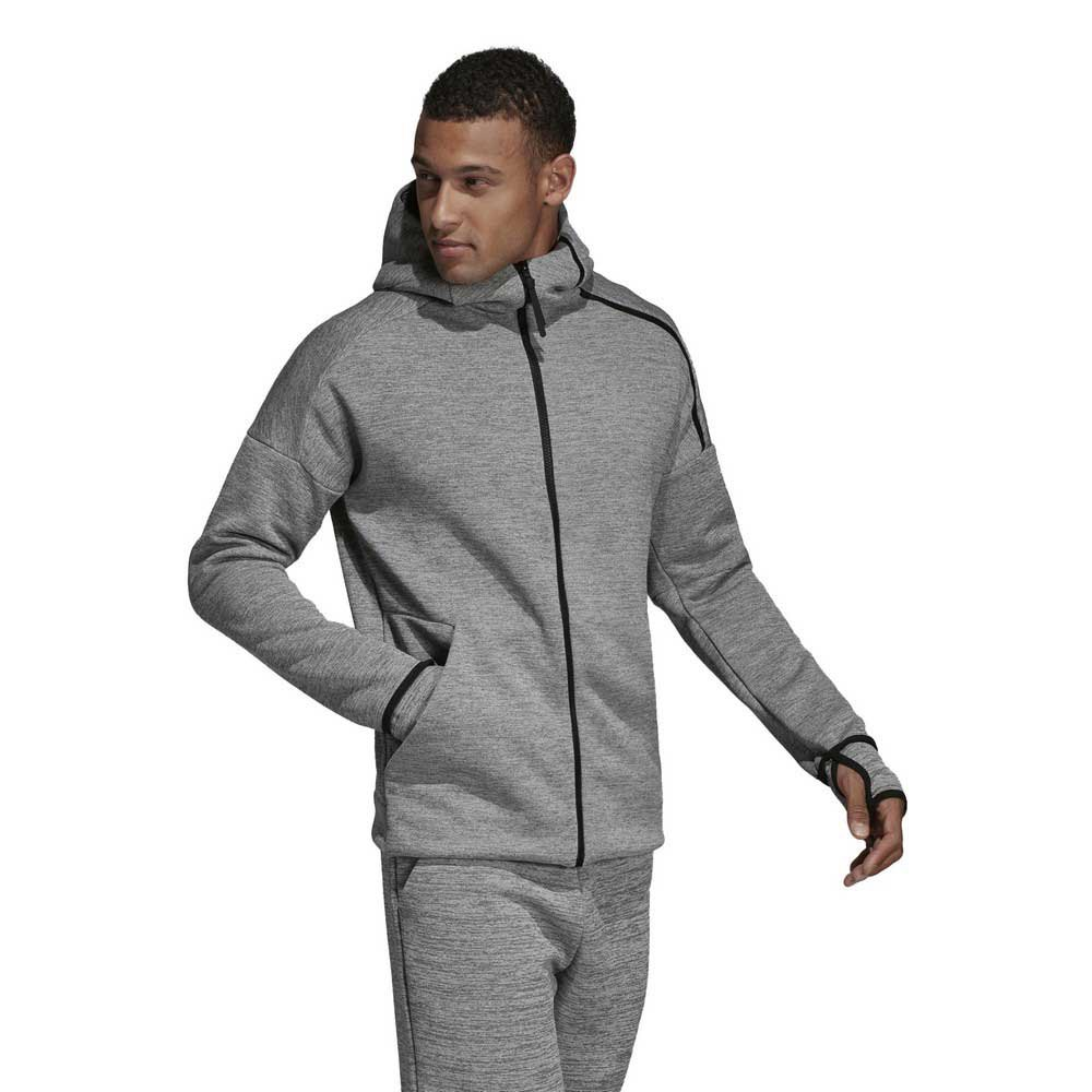 Détails sur Adidas Zne Feat Fast Release Hoodie Regular Gris T91852 Sweatshirts Homme Gris