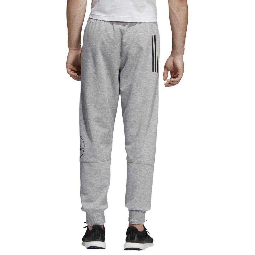 adidas pantaloni uomo grigio
