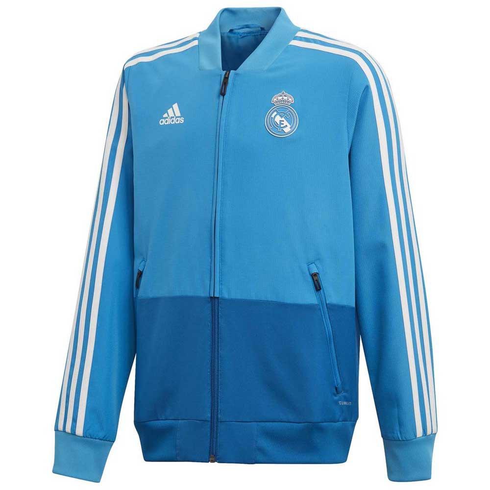 Adidas Blouson Real Madrid Présentation 18/19 Junior 128 cm Craft Blue / Dark Royal / Core White