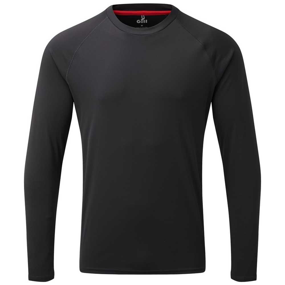 Gill Uv Tec Schwarz , T-Shirts Gill , angelsport , Herrenkleidung