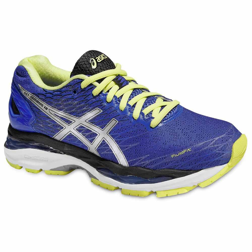 Asics Gel Nimbus 18 EU 37 Blue Purple / Silver / Sunny Lime