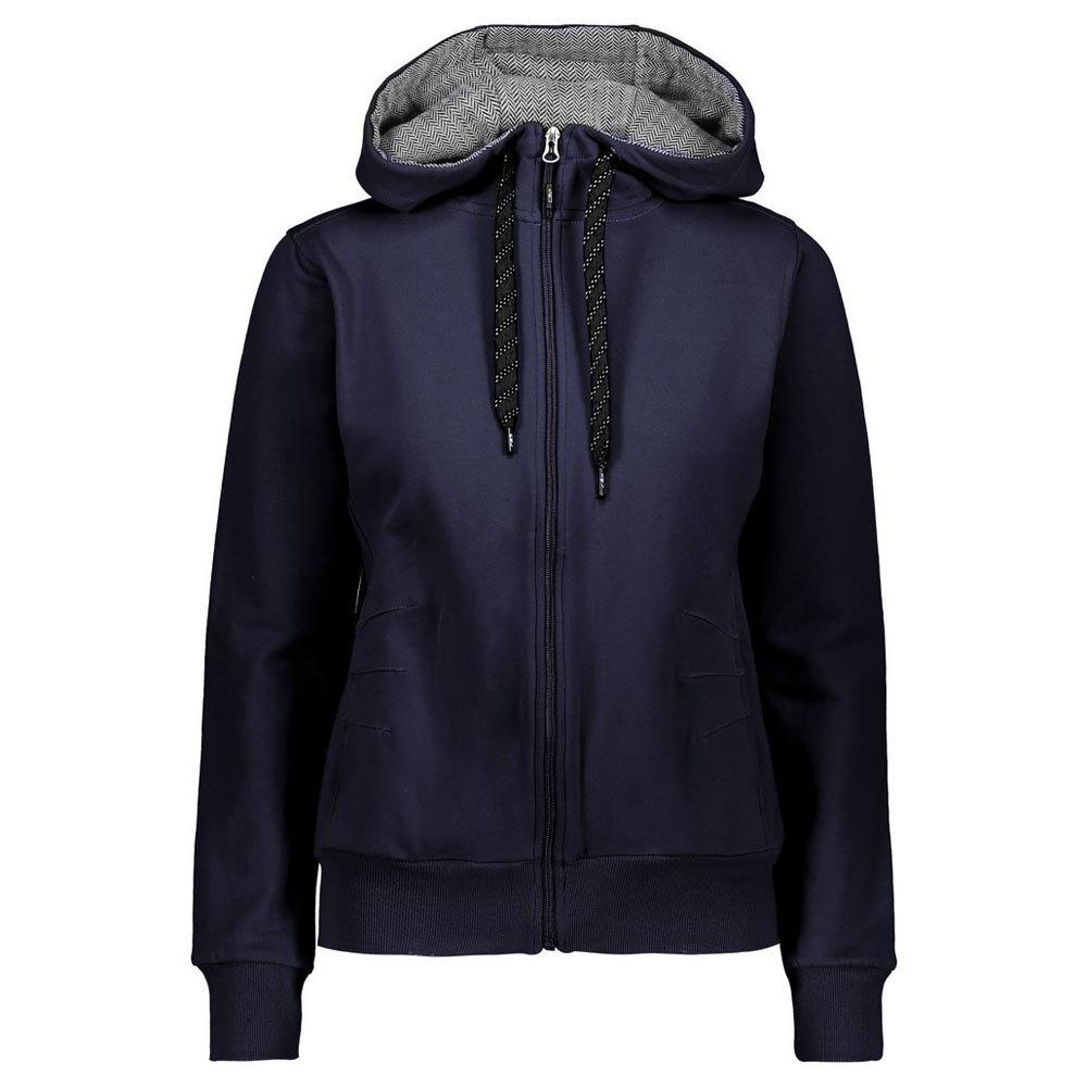Cmp Jacket Fix Hood M Black Blue
