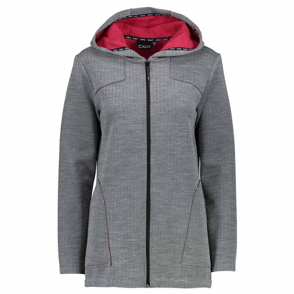 Cmp Jacket Fix Hood S Black / Granita