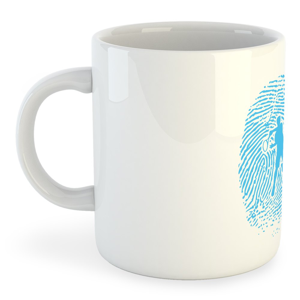 Kruskis Mug Tennis Fingerprint 325 ml (11 oz) White