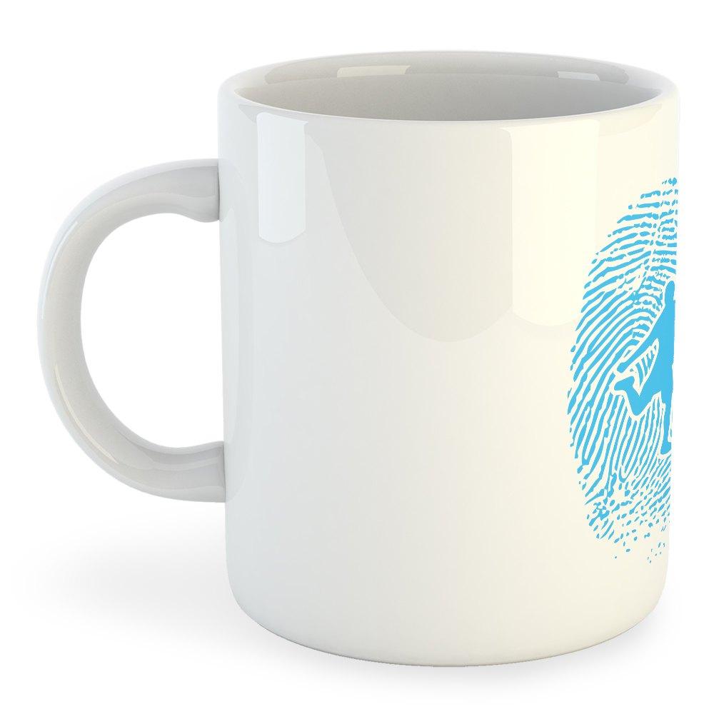 Kruskis Mug Football Fingerprint 325 ml (11 oz) White