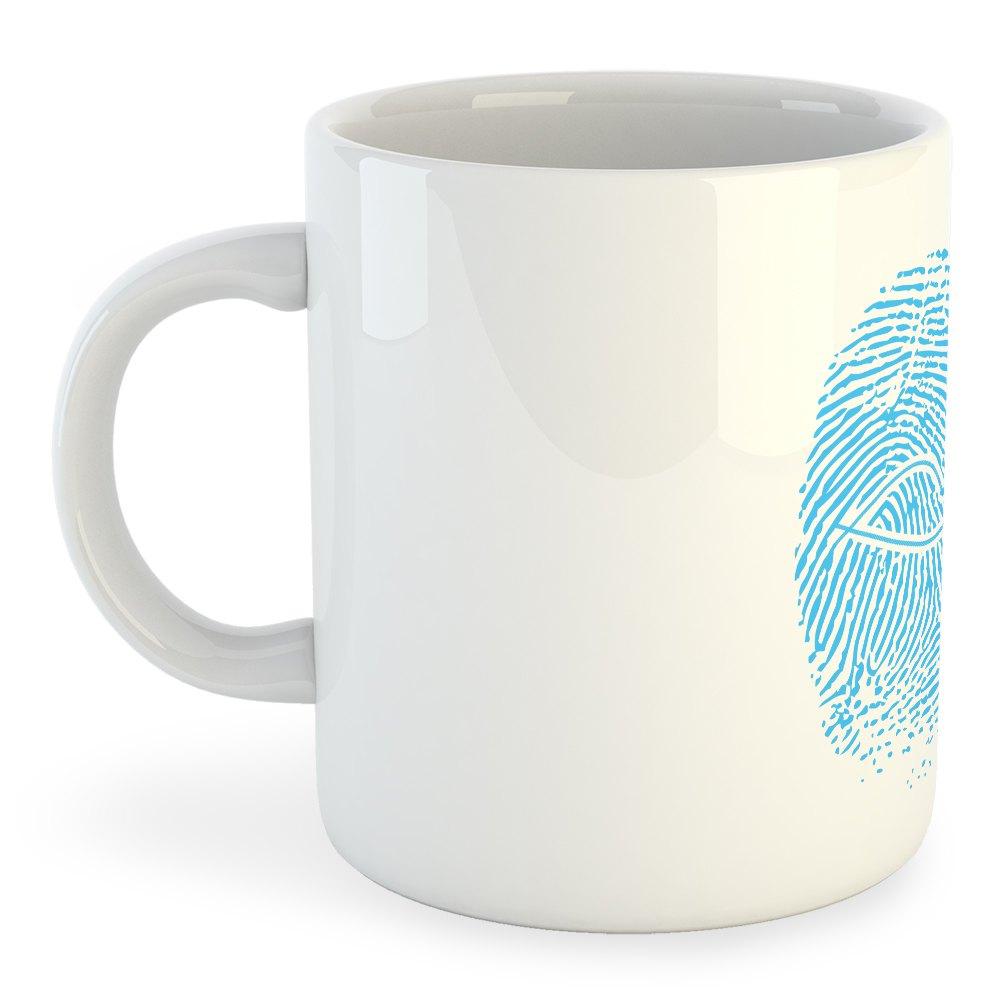 Kruskis Mug Crossfit Fingerprint 325 ml (11 oz) White