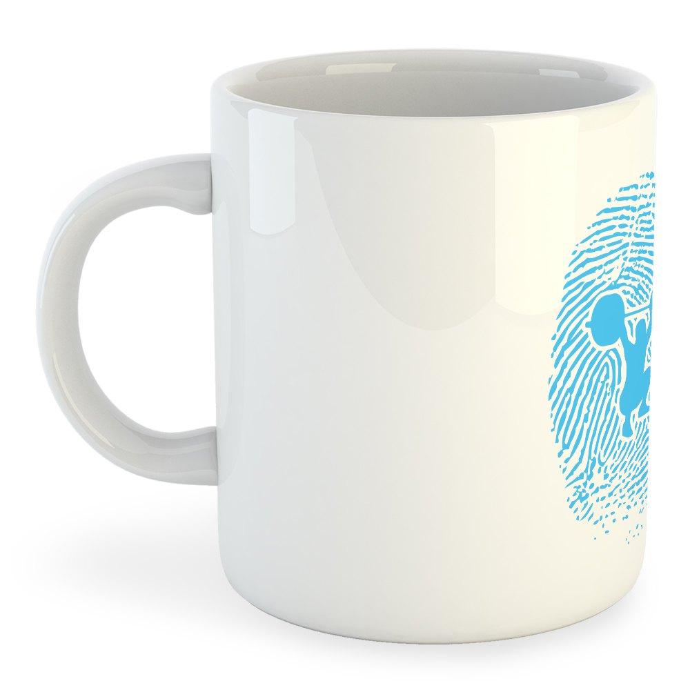 Kruskis Mug Fitness Fingerprint 325 ml (11 oz) White