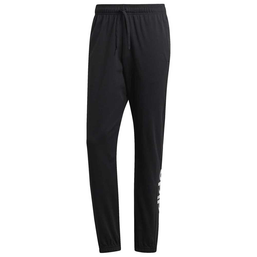 Adidas Essentials Linear Single Jersey Pants Short XL Black / White