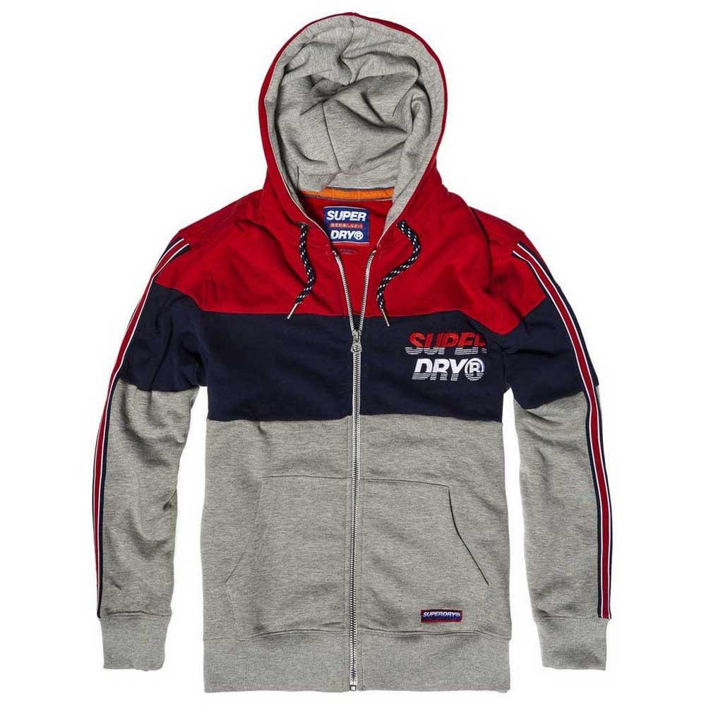 Details zu Superdry Applique Oversized Nu Lad Rot|Grau T69619 Pullover Mann Rot|Grau