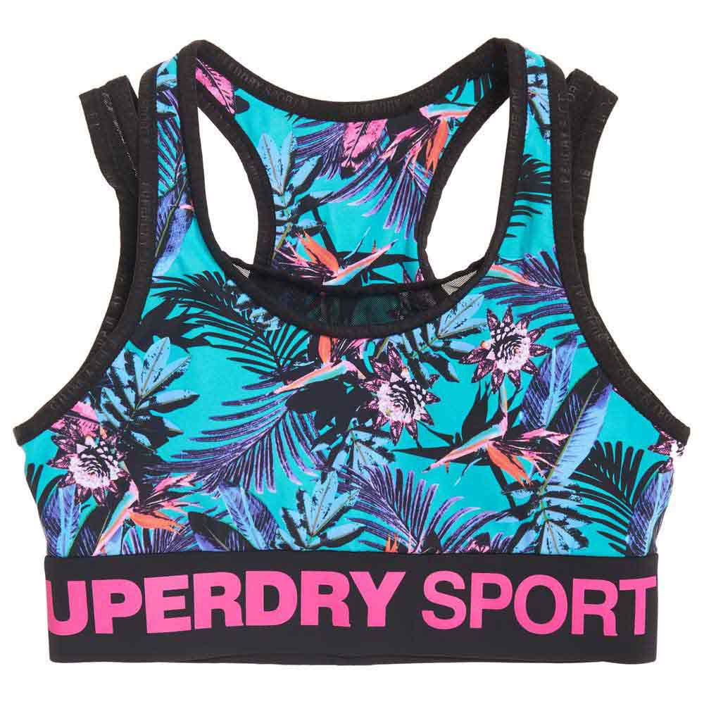 Superdry Active Layer XS Lucy Tropical Print