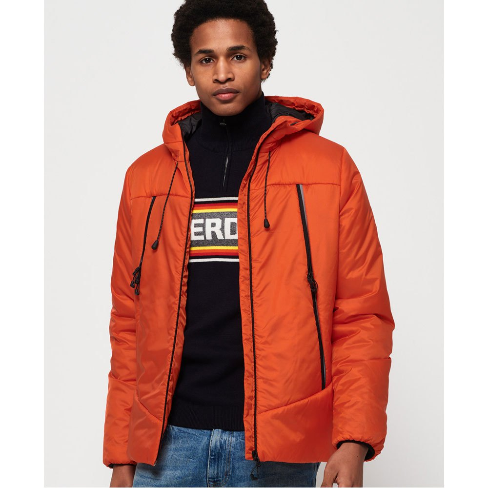 Homme Vêtements Mode Superdry Casey Orange Padded Vestes FqwxRUxYvz