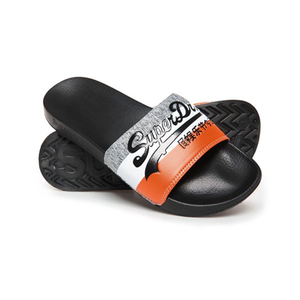 Superdry Vintage Logo Pool EU 44-45 Black / Orange / Grey Grit