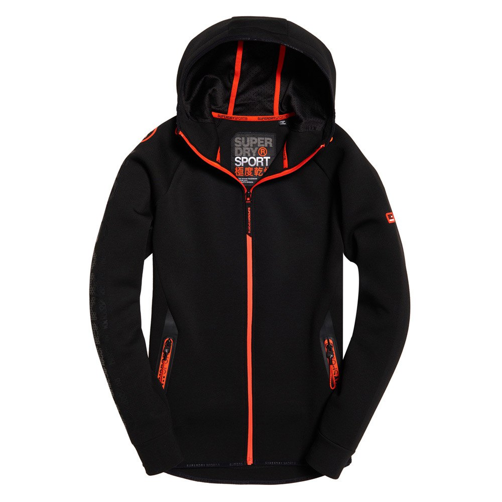 Superdry Gym Tech Stretch Nero , Pullover Superdry , fitness