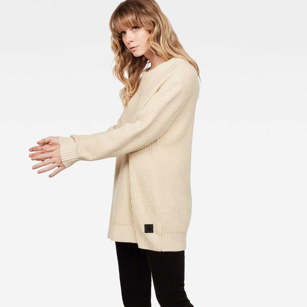 Gstar Plush R Knit Ls Beige , Pullover Gstar Gstar Gstar , moda , Abbigliamento donna eb050f
