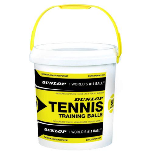 Dunlop Training Bucket 60 Balls Yellow